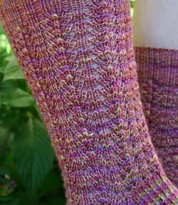 Small Rippled Lace Sock